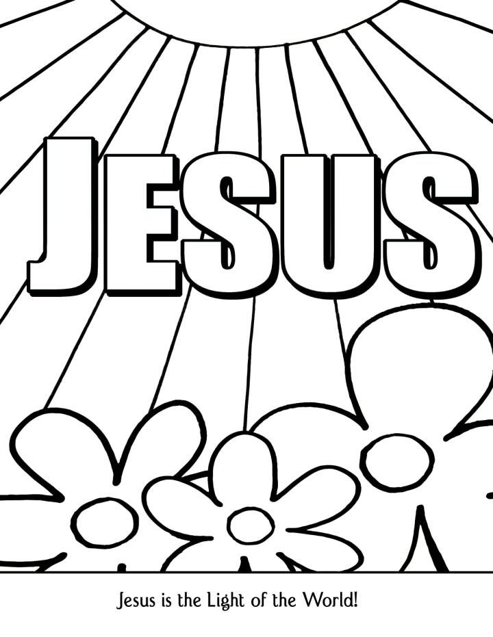 Free Printable Jesus Coloring Pages For Kids | 931x720